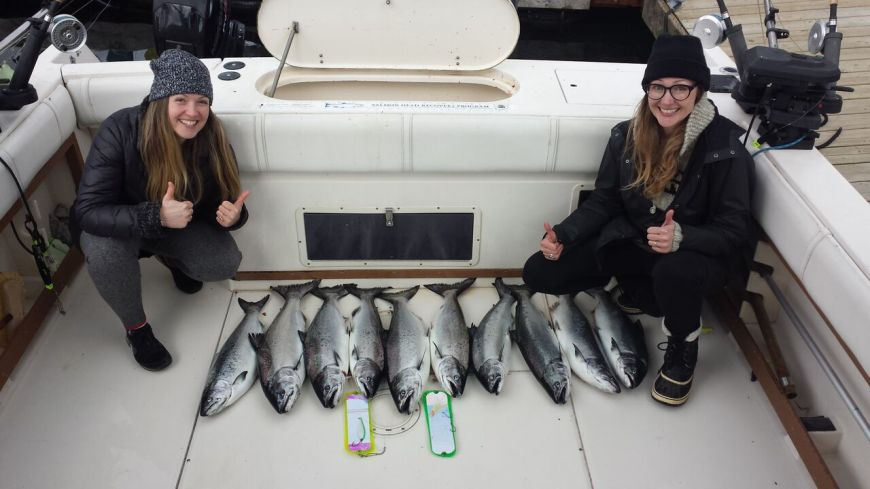 Girls fishing trip in Vancouver